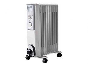 HEA1141 | DAEWOO 2.0kw 9 Fin White Oil Filled Radiator