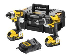 DCZ285M2 | DeWALT 18v Combi Drill & Impact Driver Twin Pack 2x4ah
