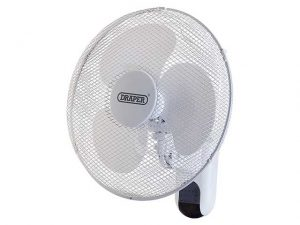 "DR09113 | DRAPER 16"" Wall Mounted Fan & Remote"