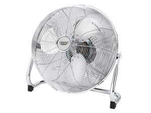 "DR09139 | DRAPER 16"" Oscillating Floor Fan Chrome"