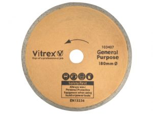 VIT103407   VITREX Replacement Diamond Blade 180mm
