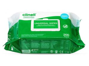 FACW200 | CLINELL UNIVERSAL MEDICAL DISINFECTING WIPE 200pk