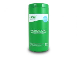 FACWTUB100 | CLINELL UNIVERSAL MEDICAL DISINFECTING WIPE 100 TUB