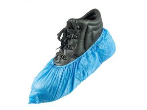 06OVERSHOE | BLUE DISPOSABLE OVERSHOES ONE-SIZE 100pk