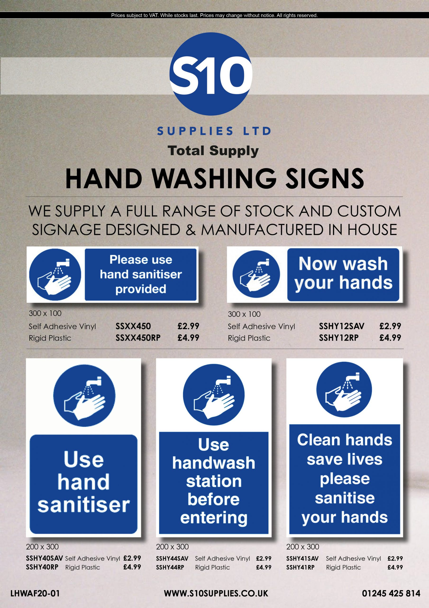 Flyer - Safety Signs