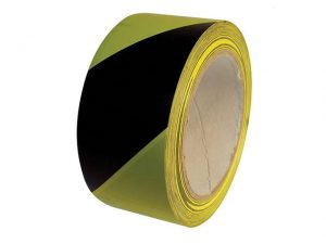 10HTBY | Hazard Tape Black & Yellow 50mm x 33m