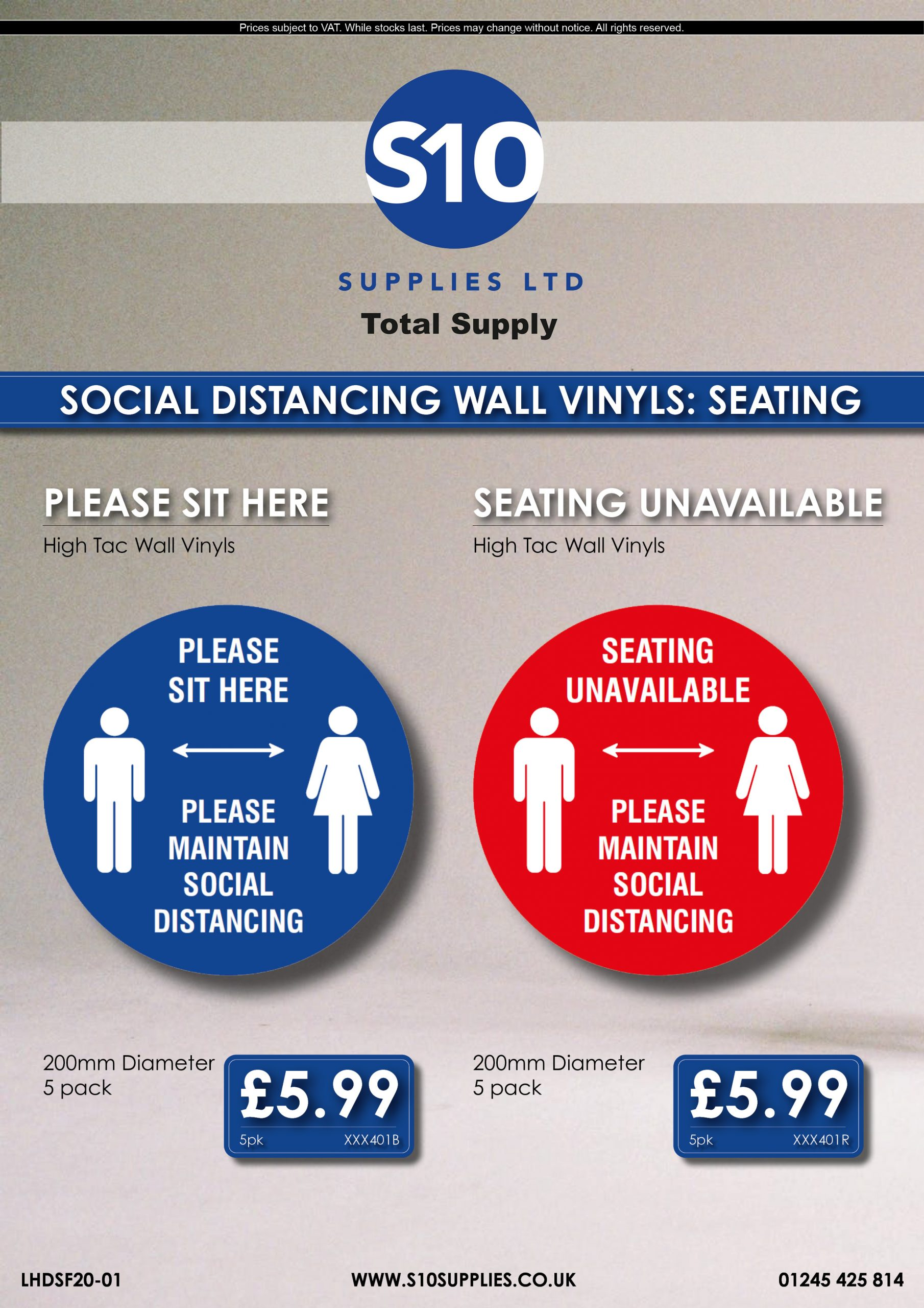 Flyer - LHDSF20-01 - Social Distancing Seating