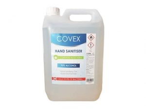 XXX120C | COVEX 70% Alcohol Hand Sanitiser Refill with Aloe Vera 5 Litre
