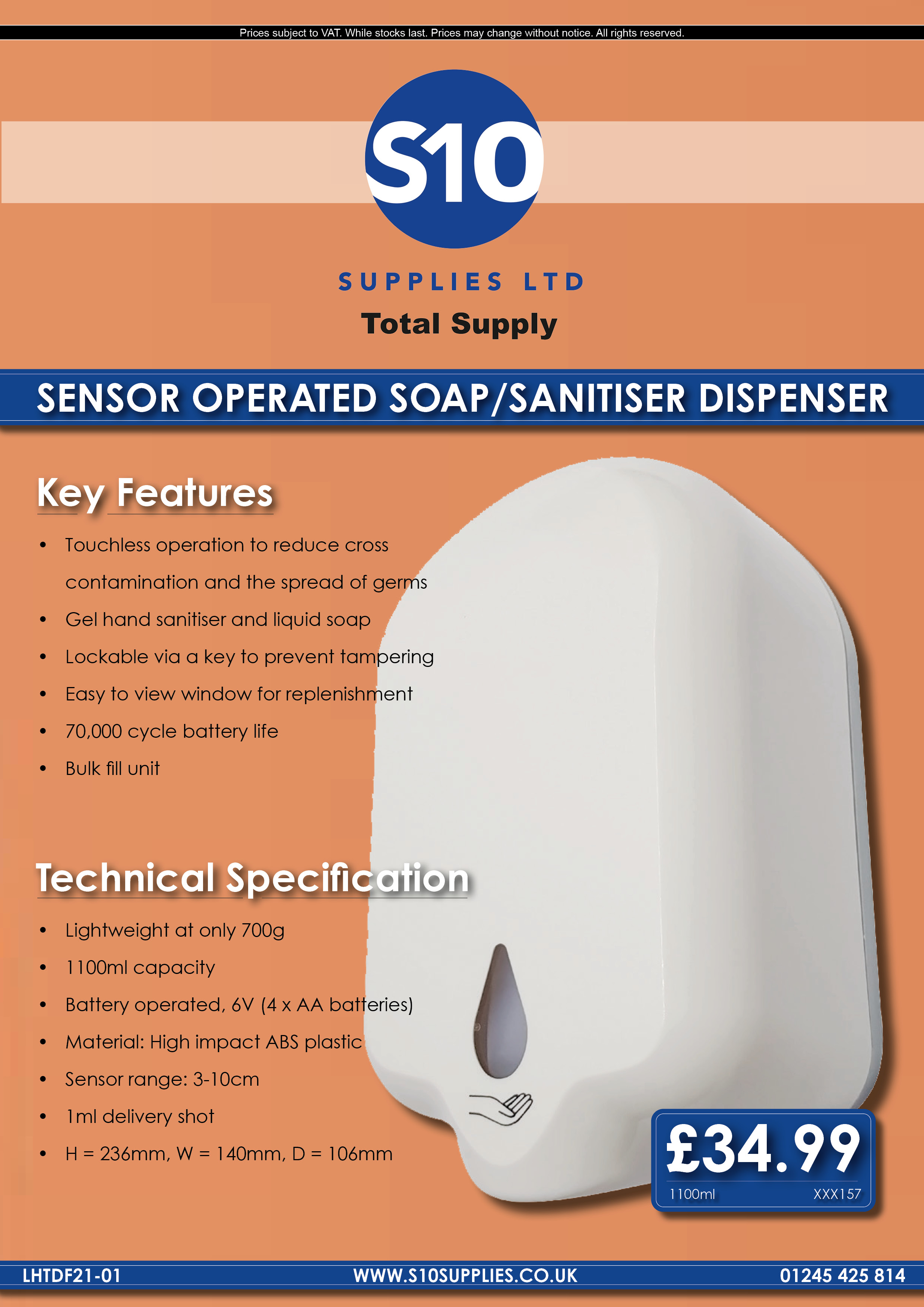 Flyer - LHTDF21-01 - Touchless Dispesners