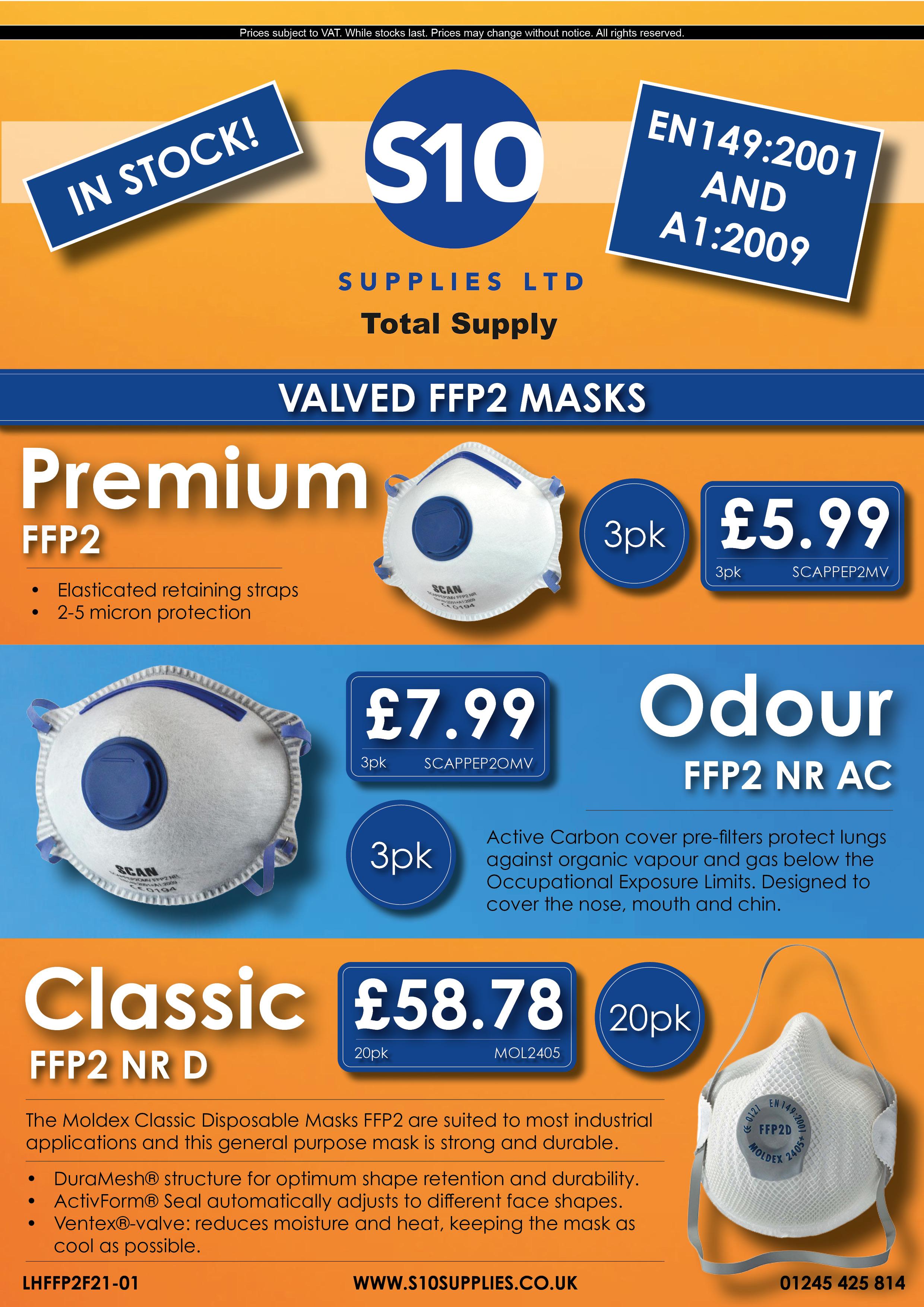 Flyer - MF21-01 - Masks 5.3 FFP2 (3 types)