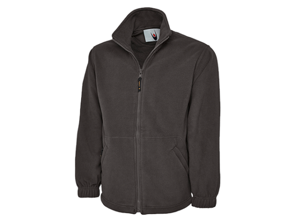 UC601CM | PREMIUM FULL ZIP FLEECE CHARCOAL MEDIUM